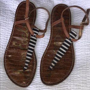 Like New Sam Edelman Striped Sandals